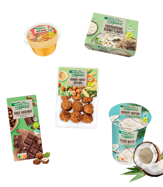 REWE Bio + vegan Produkte