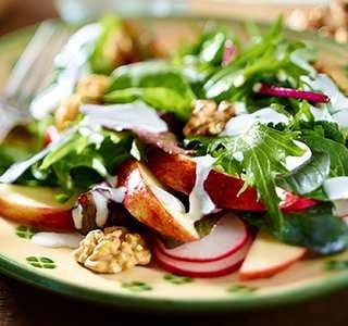 Radieschen-Apfel-Salat mit Joghurt-Dressing