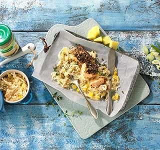 Pfefferlachs auf Ananaskraut (ein Rezept aus der Brigitte Diät)