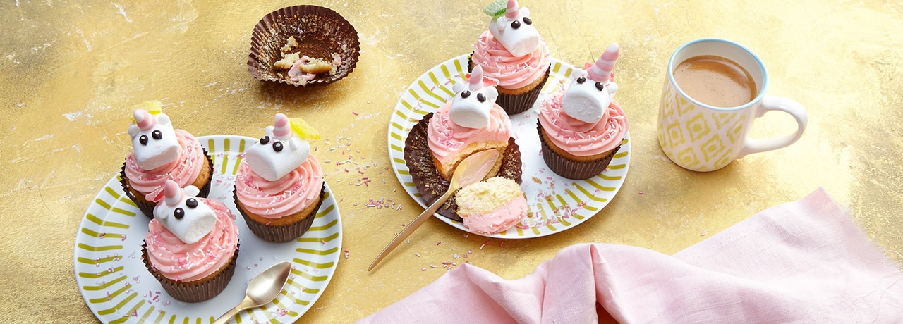 Einhorn Cupcakes REWE Rezept