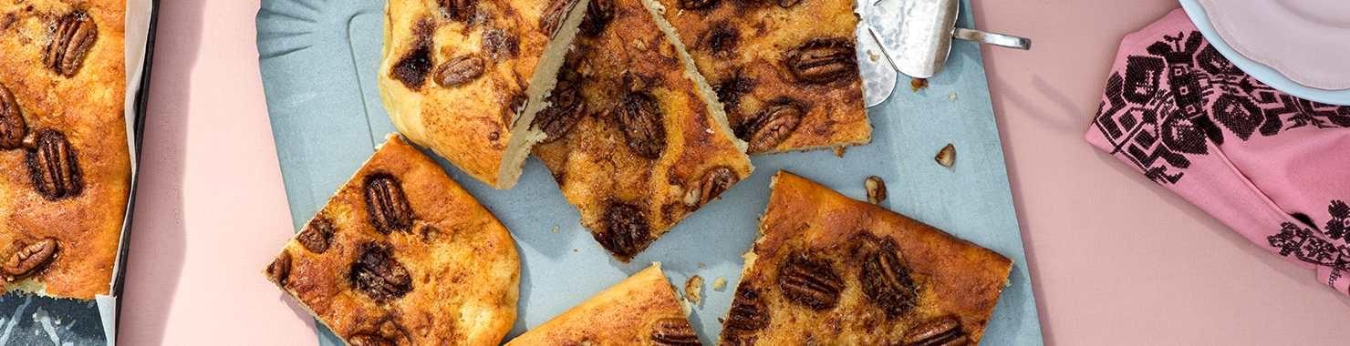 Kartoffel-Zimt-Kuchen (Dätscher) mit Pekannüssen