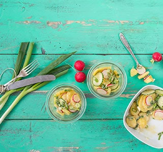 veganer kartoffelsalat mit essig und l rewe rezept. Black Bedroom Furniture Sets. Home Design Ideas
