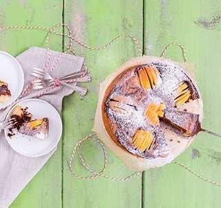 Versunkener Apfel Marmorkuchen