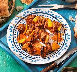 Grillspiesse mit Hähnchen & Mango